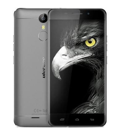 Ulefone Metallo - Android 6.0 Corning Gorilla 3 schermo 5.0 pollici 4G smartphone 3GB di RAM Octa Nucleo scanner di impronte digitali GPS Bluetooth 4.0 OTG - grigio