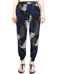 Mujer Pantalones De Tiempo Libre Vintage Floreadas Elásticos Cintura Alta  Pantalones Verano Fiesta Estilo Fashion Elegantes Anchas… 619302a5e9b3