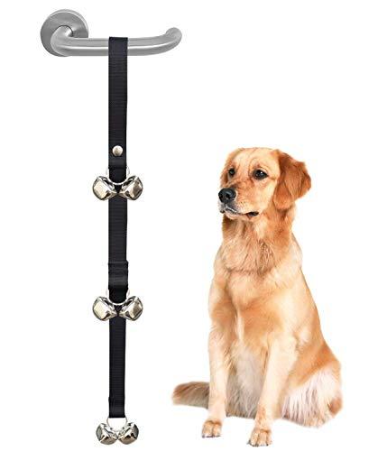 Alihoo Türglocken für Hunde, Hochwertiges Hundetraining, tolle Glocken, Verstellbare Hundeglocken mit 6 Klingeln und Lauten Türglocken