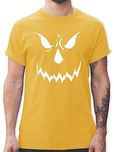 Halloween - Scary Smile Halloween Kostüm - XL - Gelb - L190 - Herren T-Shirt und Männer Tshirt