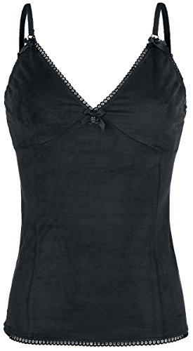 Gothicana by EMP Skull Lace Top Top donna nero M