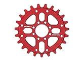 RMD BIKE CO. Unisex- Erwachsene 22&2 kettenblatt BMX MTB Dirt 23T 25T 28T Schwarz Rot, red,