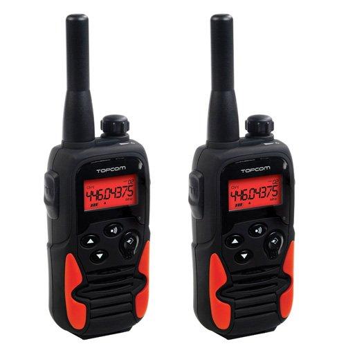 Topcom Twintalker 9500 - Walkie-talkie (10 km, 8 canales), negro