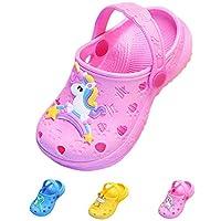 Coralup Little Kids Cute Garden Shoes Unicorn Slippers Dinosaur Beach Sandals Comfort Lightweight Anti-Slip Clog Mules Toddler Girls Boys