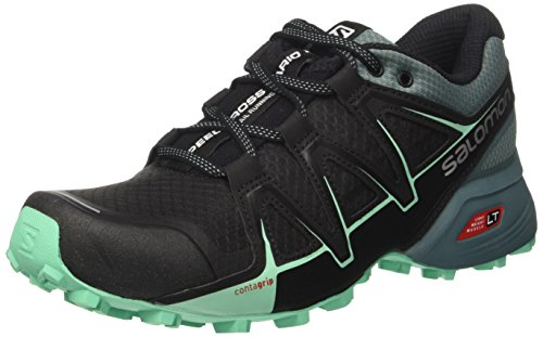 Salomon Speedcross Vario 2 W, Zapatillas de Trail Running para Mujer, Negro (Black/North Atlant/Biscay Green 000), 36 2/3 EU