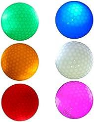 Sharplace 6 Pcs Bola Pelota de Golf Noche de Color Rojo Oscuro Peso/Tamaño Oficial de Torneo