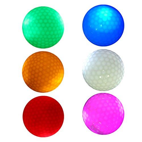 CUTICATE 6 Stück Leuchtend Golfball LED Golfbälle Golfgeschenke