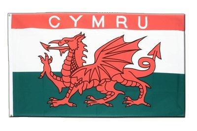 Wales CYMRU Flagge, walisische Fahne 60 x 90 cm, MaxFlags®