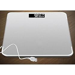 odefc USB bilancia elettronica ricaricabile elettronica bilance bilancia scala di salute adulta perdita di peso perdita di peso bilancia bilancia del corpo ( Colore : Silver )