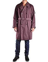 Stone Island Men's MCBI284099O Burgundy Polyamide Trench Coat