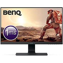 "BenQ GL2580H - Monitor Gaming de 24.5"" (Full HD, 16:9, HDMI, DVI, VGA, 1ms, Eye-Care, Flicker-free, Low Blue Light, Antirreflejo), Color Negro"