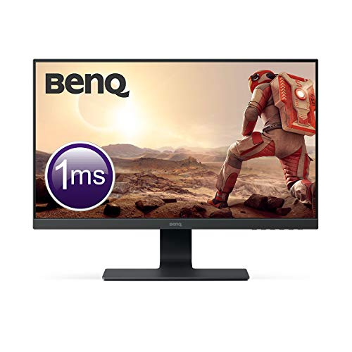 BenQ GL2580H - Monitor Gaming de 24.5' (Full HD, 16:9, HDMI, DVI, VGA, 1ms, Eye-Care, Flicker-free, Low Blue Light, Antirreflejo), Color Negro