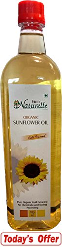 Farm Naturelle Organic Virgin Cold Pressed Sunflower Oil, 915ml
