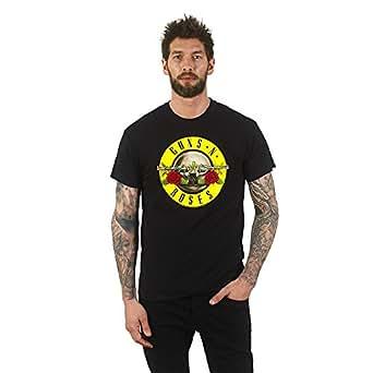 Guns N Roses Men's Bullet Logo T-Shirt Small Black