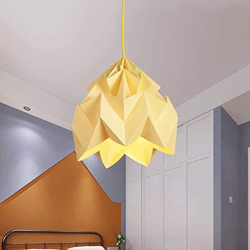 euchter Schlafzimmer Nachttisch Papier Falten Nordic Kronleuchter Kreative Wohnzimmer Esszimmer Kunst Kronleuchter Jane Europäischen Lampen Bezaubernd (Size : L) ()