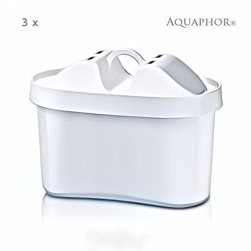 """3 x MAXPHOR Wasserfilter Wechselkartusche-B100-25 (1x3er pack). Ersetzt Brita* Maxtra Kartuschen. Neue Generation der Filterkartuschen - Kannenfilter Aquaphor mit AQUALEN® Filtertechnologie ! AQUAPHOR Filter - Die Alternative. 170 Liter Filterkapazität. Hochleistungs-Wasserfilter EU-Produkt / in EU produziert. Passend für Aquaphor \""""Orion\"""" und auch für Brita z.B.Fjord, Navelia, Elemaris, Optimax & Marella Cool, / PearlCo Tischfilter Astra Unimax, Laica 3000, 4000, 7000 Serie, Claro Swiss, Pearlco unimax, Aquaselect \""""Shark Multimax\""""/ ua. Kaffee und Getränkeautomaten wie: Bosch Tassimo T45, T65, Bosch Filtrino THD2021GB, THD2023GB JUGS,WIK 9531STA, Senseo Twist HD7873 uvm. - kompatibel mit allen ovalen Tischfilterkartuschen, nicht mit den Runden -"""