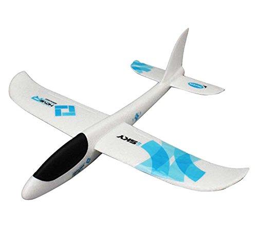 (Simulations-Flugzeug-Spielzeug-Modell, das Flugzeuge im Freien Sport-Spielwaren-Blau wirft)