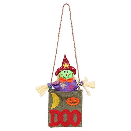 Yimosecoxiang Besondere Fest bietet Halloween Süße Kürbis Hexe Boo Door Hanging Ornament Holiday Home Hotel Decor, Stoff, Red Hat