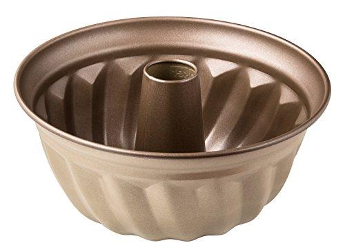Zenker Gugelhupfform Ø 25 cm Mojave Gold, Backform aus Stahlblech, Kuchenform mit keramisch verstärkter Antihaftbeschichtung (Farbe: Mahagoni/Gold), Menge: 1 Stück