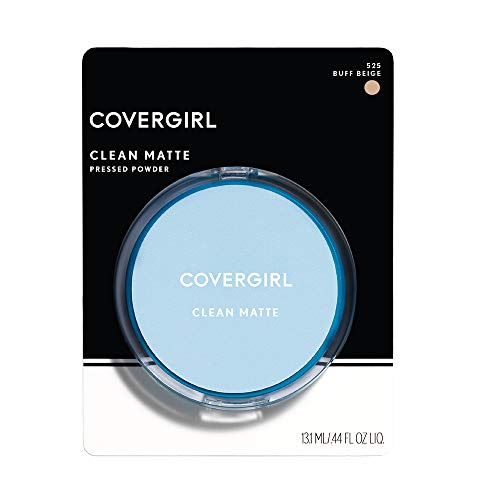 CoverGirl Clean Oil Control Pressed Powder, Buff Beige (W) 525, 0.35-Ounce Pan by COVERGIRL