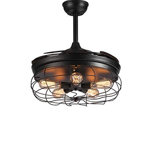 Araña @candelabro, Lámpara LED para Ventilador de Techo, Control Remoto Industrial +...