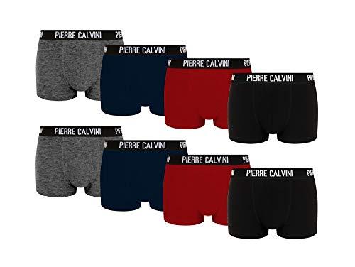 Pierre Calvini - Hipster Boxershorts, 8er Pack, Größe L, Bequeme und atmungsaktive Herren Unterwäsche, Baumwolle Unterhosen Männer in 8 Ausführungen, Basic Boxer (Mehrfarbig, L) -
