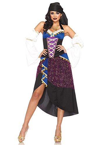 Leg Avenue 83941 - Tarot Karten Zigeunerin Kostüm Set, Größe S, (Halloween Kostüme Zigeunerin)