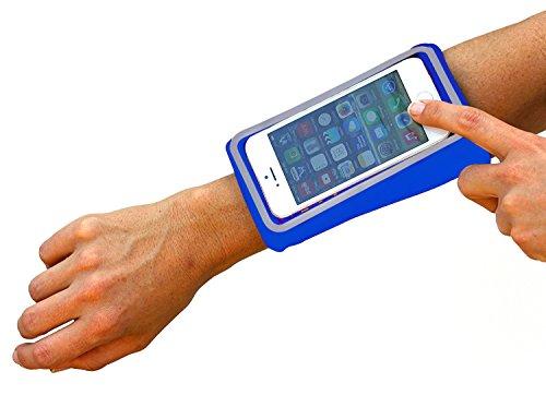 Sportarmband Samsung Galaxy A5Unterarm Handgelenk-Samsung A5Armbandtasche Samsung A5Sport Armband Unterarm Samsung A5Armband Samsung A5Unterarm blau