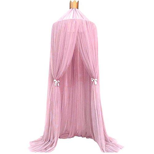 Gemini_mall® Bett Canopy Kinder Kuppel Moskito-Netz mit Spiel Zelt Gut für Baby Innen- und Außenbereich im Schlafzimmer, 240cm rose (Schwarz Canopy-netz Für Bett)
