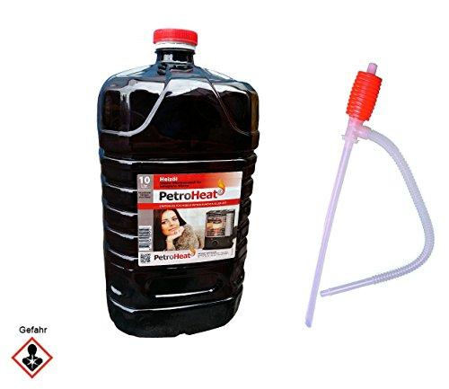 Petroleum 10 L Liter Kanister inkl. Handpumpe Brennstoffpumpe für Petroleumofen Heizofen geruchsarm 20