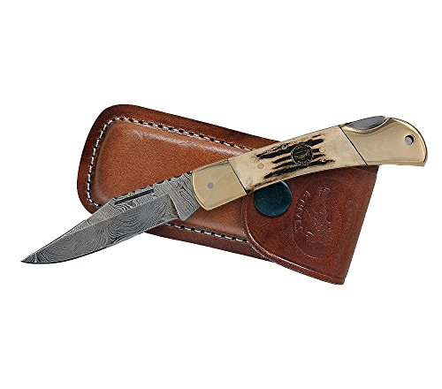 Croco Knives Damascus - Navaja Plegable 16 Longitud