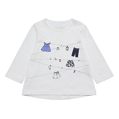 Esprit Kids Baby-Mädchen Langarmshirt T-Shirt, Weiß (Off 110), 80