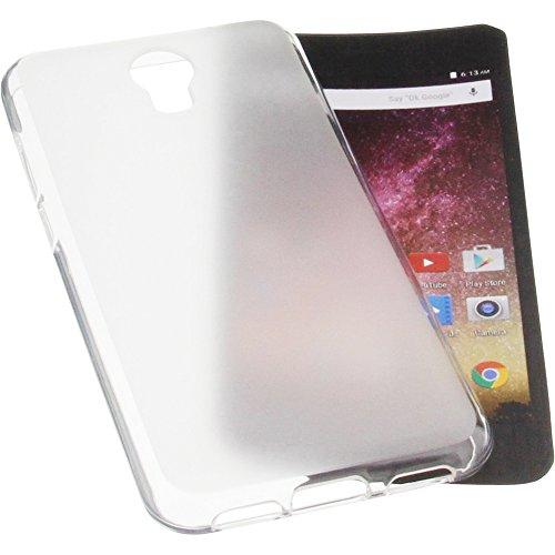 foto-kontor Tasche für Archos Core 50p Gummi TPU Schutz Handytasche transparent weiß