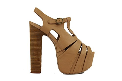 JEFFREY CAMPBELL AH552 sandali donna 40 EU pelle beige