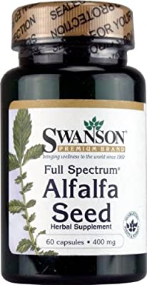 Swanson Full Spectrum Alfalfa Seed (400mg, 60 Capsules) by Swanson Health Products
