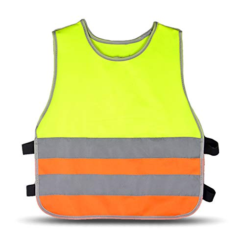 Reflektierende Jacken 2 Stücke Kinder Reflektierende Weste Highlights kinder Grundschüler Sicherheit Schutzweste Campus Nacht Laufende Fluoreszierende Kleidung Sicherheitsweste für Arbeiten im Freien