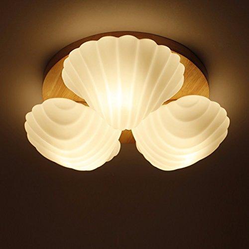 anhänger licht mini - sized von 3 muscheln muscheln form flush mount deckenleuchten für beleuchtung fixture, mode einfachheit moderne