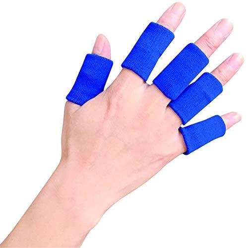 WLIXZ Erwachsene Finger-Klammer-Schiene-Hülse, Daumen-Stützschutz, weiches bequemes Kissen-Druck sichere elastische Breathable Stabilisatoren,Blue