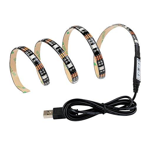 SKR tira LED RGB con USB Conector 90cm/35inch TV retroiluminación LED Barra...