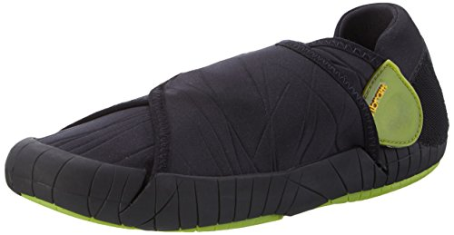 Vibram five fingers furoshiki shoe, scarpe in neoprene unisex - adulto, nero (black/green), 38/39 eu