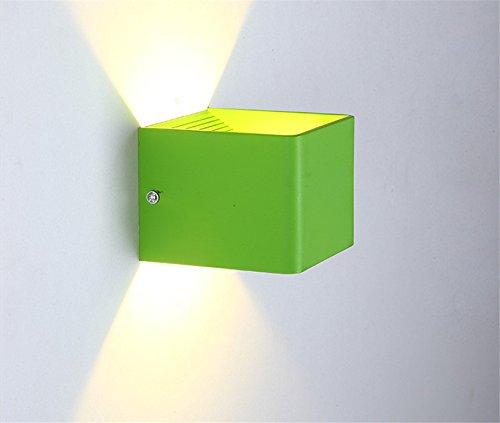 LIYAN minimalistische Wandleuchte Wandleuchte E26 /E19619Nachttischlampe Kinderzimmer Wandleuchte Kinder Raum für kreative Wohnzimmer, zwei-Wege-Treppe LED-Wände, grüner Tee, warmes Licht 7 W (Led Lichter Tee Grüne)