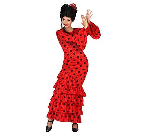 Atosa 28597 - flamenco, rojo, señoras traje, tamaño 34/36, rojo / negro