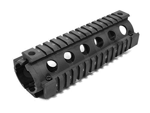 Quad Rail Handguard System 170mm - 4x 21mm Profilschiene - Montageschiene für Zielfernrohr RedDot Zielvisier (Ar 15 Schiene Der 7)