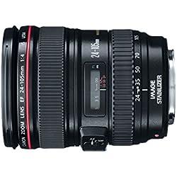 Canon EF 24-105mm f/4L is USM pour T5i, T6i, T6S, 6d, 5d, 5DII, 5DIII, T4i, T3i, 60d, 70d, 70dii, 7d et 7dii appareils Photo Reflex numériques-Version Internationale (sans Garantie)