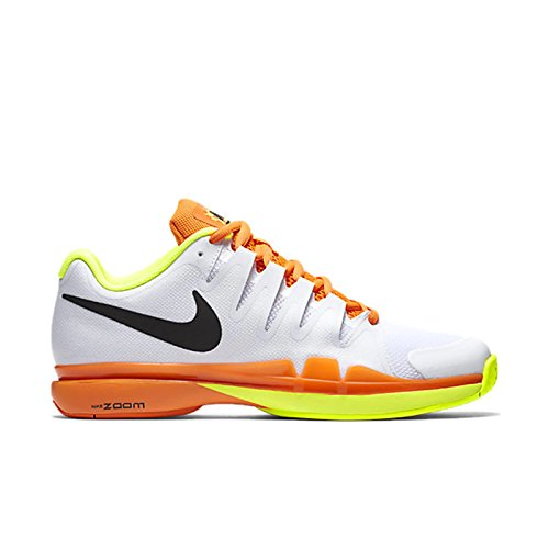 Nike Zoom Vapor 9.5 Tour, Chaussures de Tennis Homme Blanc, orange (White / Black-Volt-Total Orange)