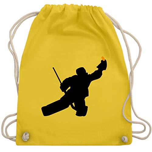 Eishockey - Towart Eishockey Eishockeytorwart - Unisize - Gelb - WM110 - Turnbeutel & Gym Bag