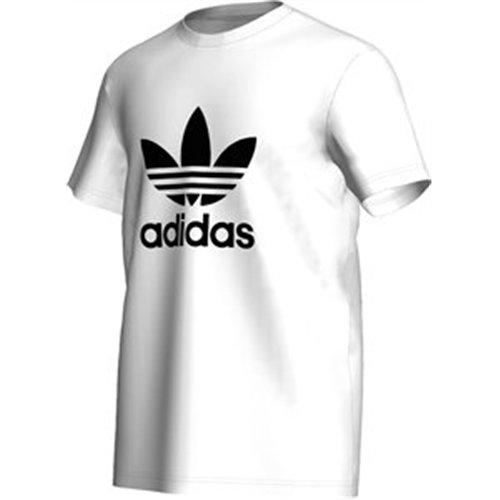 adidas, Maglietta uomo Trefoil Maglietta Bianco (weiß/schwarz)