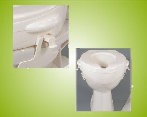 Toilettensitzerhöher Toilettensitz ohne Deckel 10 cm Rehofix *Top-Qualität zum Top-Preis*