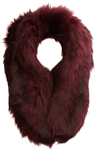 new-look-womens-faux-fur-collar-scarf-red-dark-red-one-size