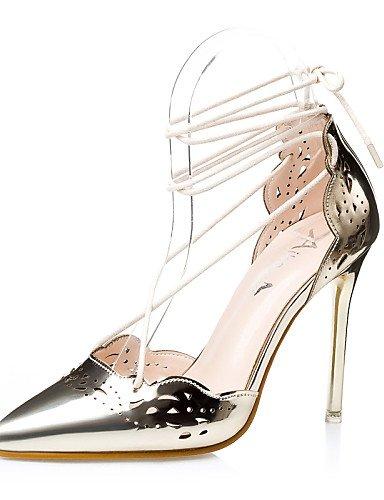 UWSZZ IL Sandali eleganti comfort Scarpe Donna-Sandali-Formale-Tacchi / Alla schiava / A punta / Chiusa-A stiletto-Finta pelle-Nero / Argento / Dorato Black